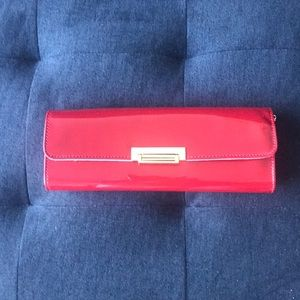 BCBG  Patent red clutch